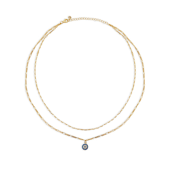 THE FIGARO EVIL EYE LAYERING NECKLACE