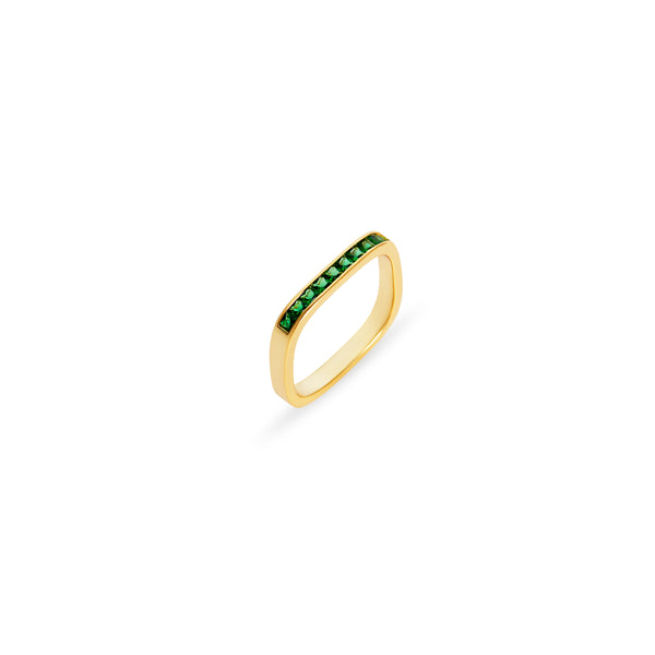 THE EMERALD GREEN BAR RING