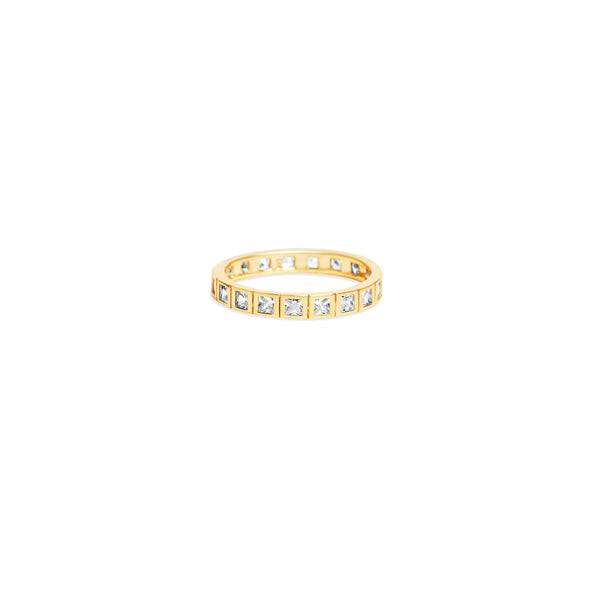 THE BEZELED PRINCESS CUT ETERNITY BAND