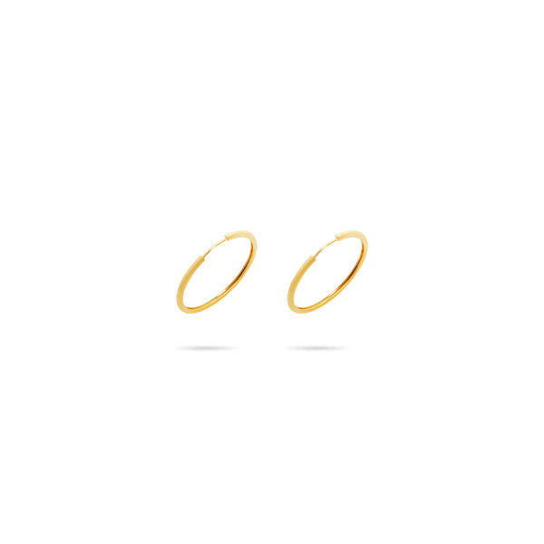 THE ENDLESS GOLD FILLED SMALL ESSENTIAL HOOPS