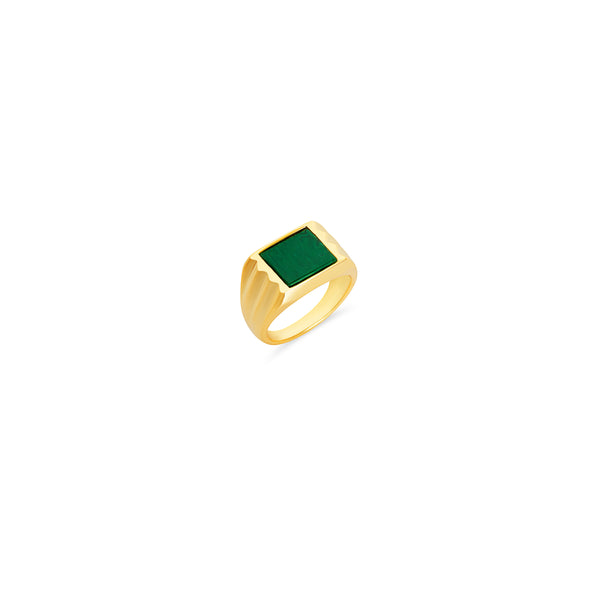 THE COLORED STONE SQUARE SIGNET RING
