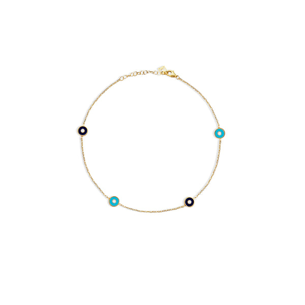 THE EVIL EYE ENAMEL ANKLET