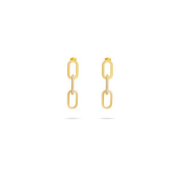 THE NOA PAVE' LINK EARRINGS