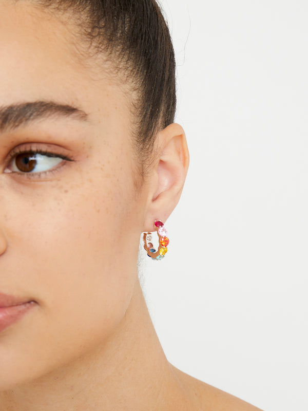 THE TINY RAINBOW HOOP EARRINGS