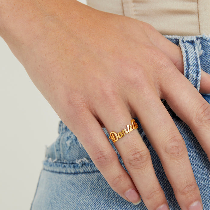 THE TINY SCRIPT RING