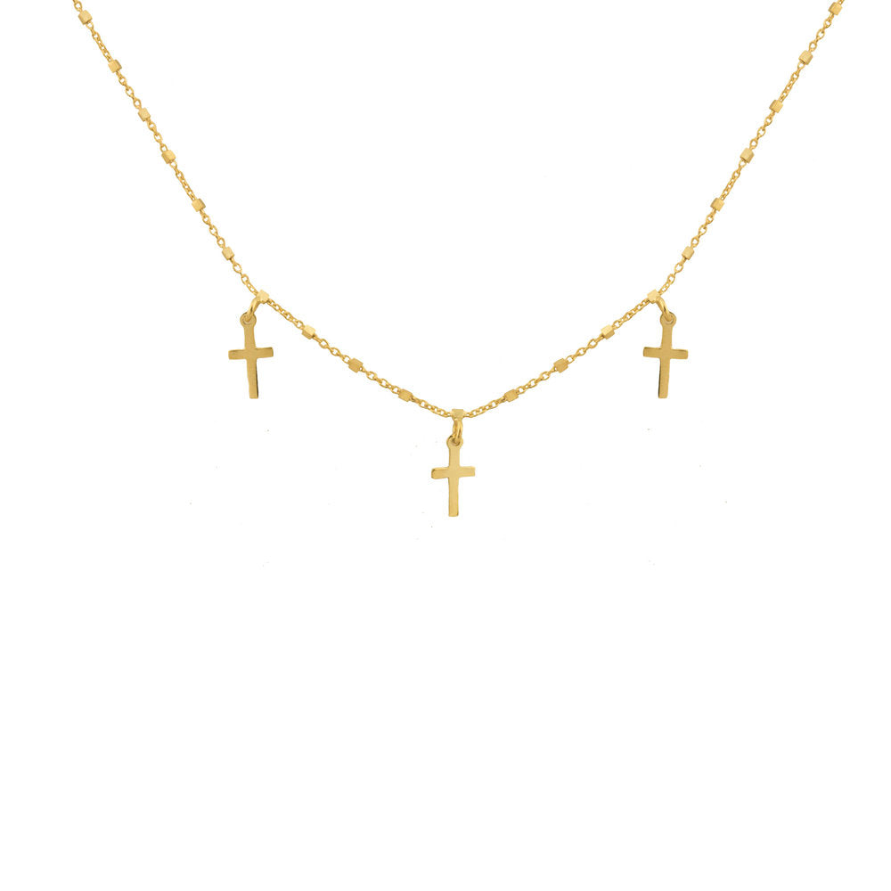 THE VICENZA CROSS CHOKER NECKLACE