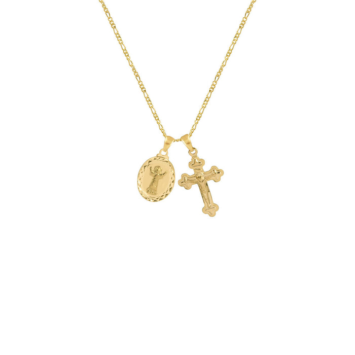 THE LE SIRENE MEDAL CROSS NECKLACE