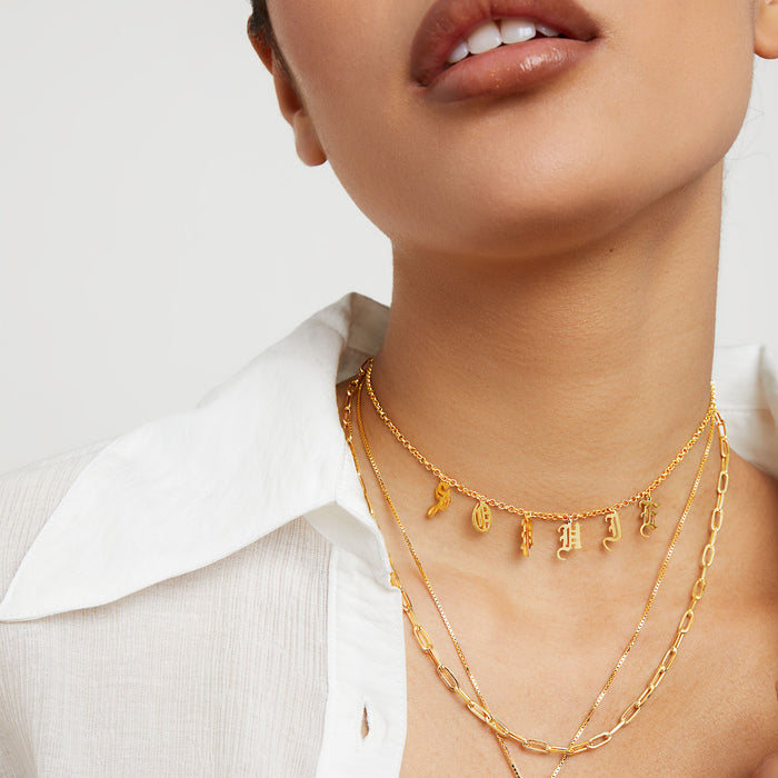 THE UPPERCASE GOTHIC CHOKER NECKLACE DG X THE M