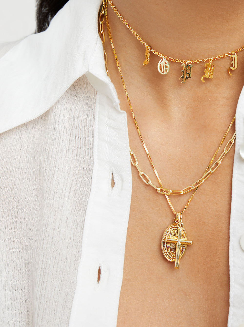 THE GUADALUPE CROSS NECKLACE