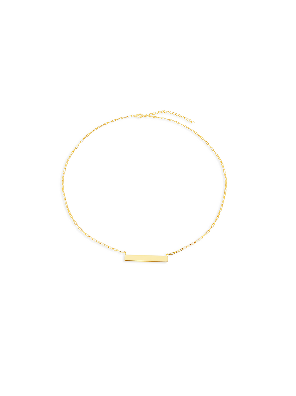 THE REDA LINK BAR NECKLACE