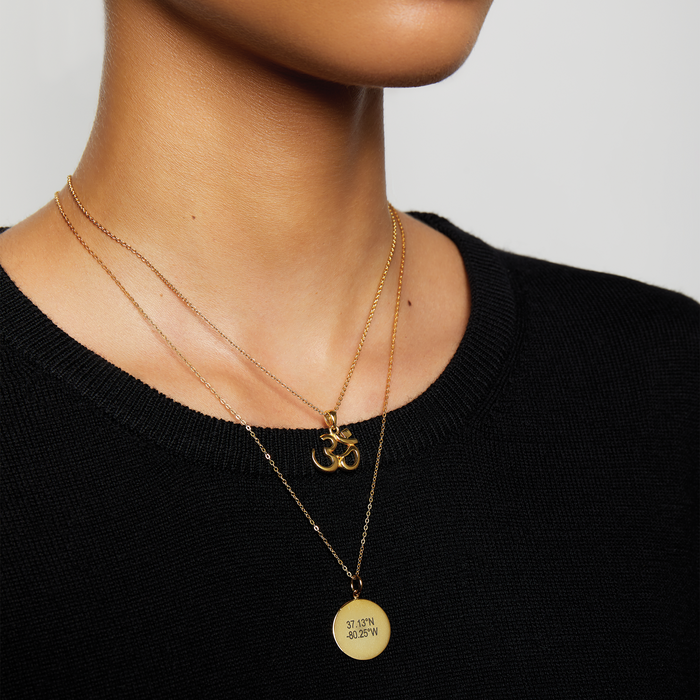 THE COORDINATE DISK NECKLACE