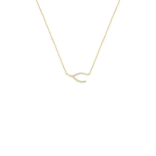 THE PAVE WISHBONE NECKLACE