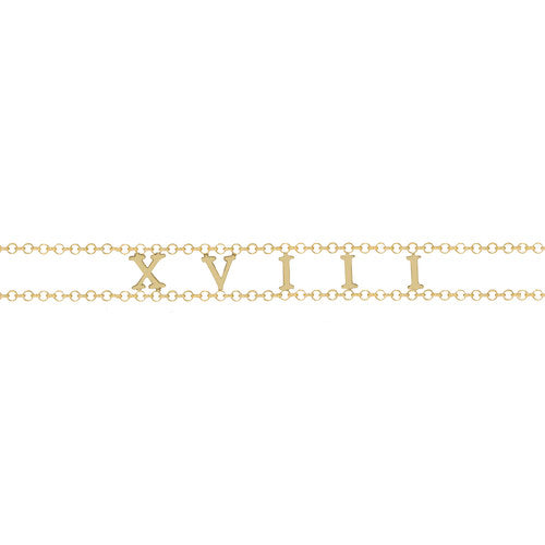 THE ROMAN NUMERAL OLD ENGLISH CHOKER