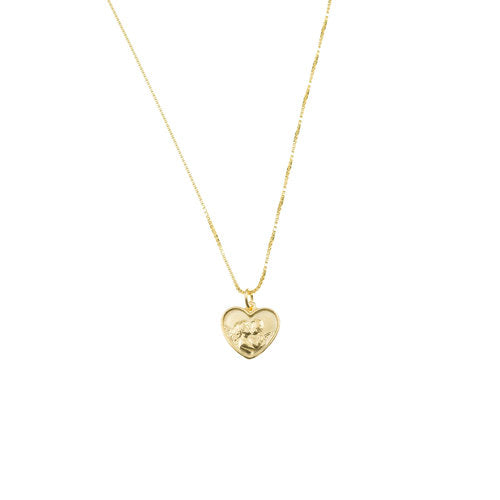 THE TINY ANGEL HEART PENDANT NECKLACE