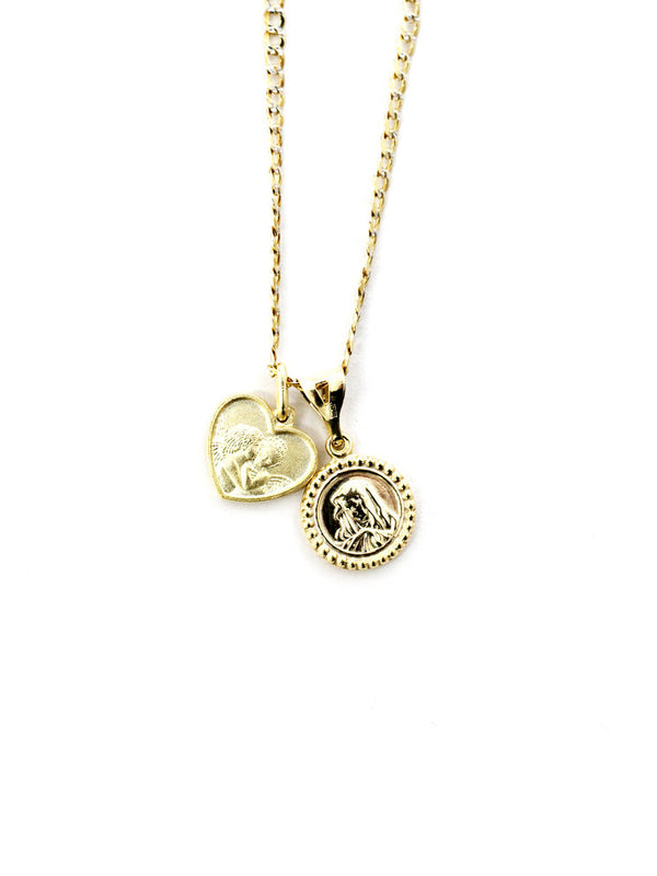 THE ANGEL/GUADALUPE MEDAL NECKLACE