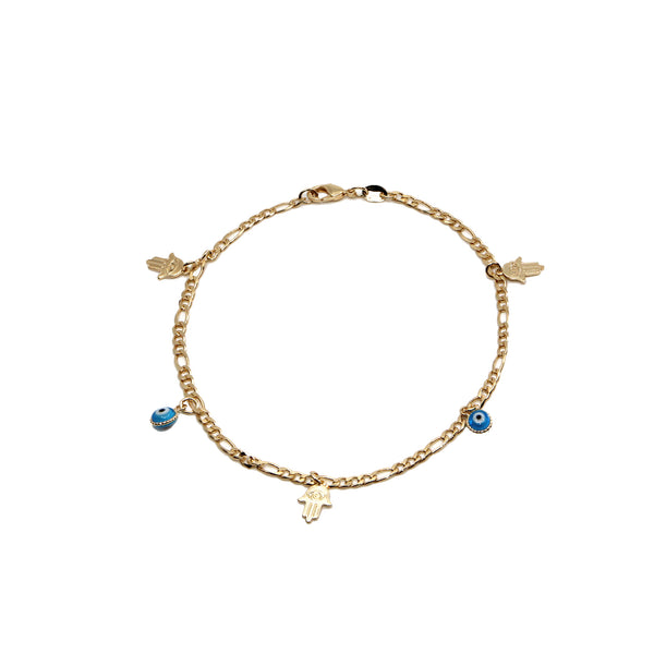 THE HAMSA EYE ANKLET (CHAPTER II BY GREG YÜNA X THE M JEWELERS)