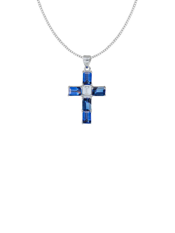 THE AZZURO TOPAZ CROSS