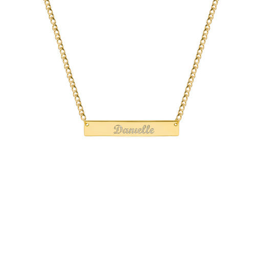 THE CURB SCRIPT BAR NECKLACE