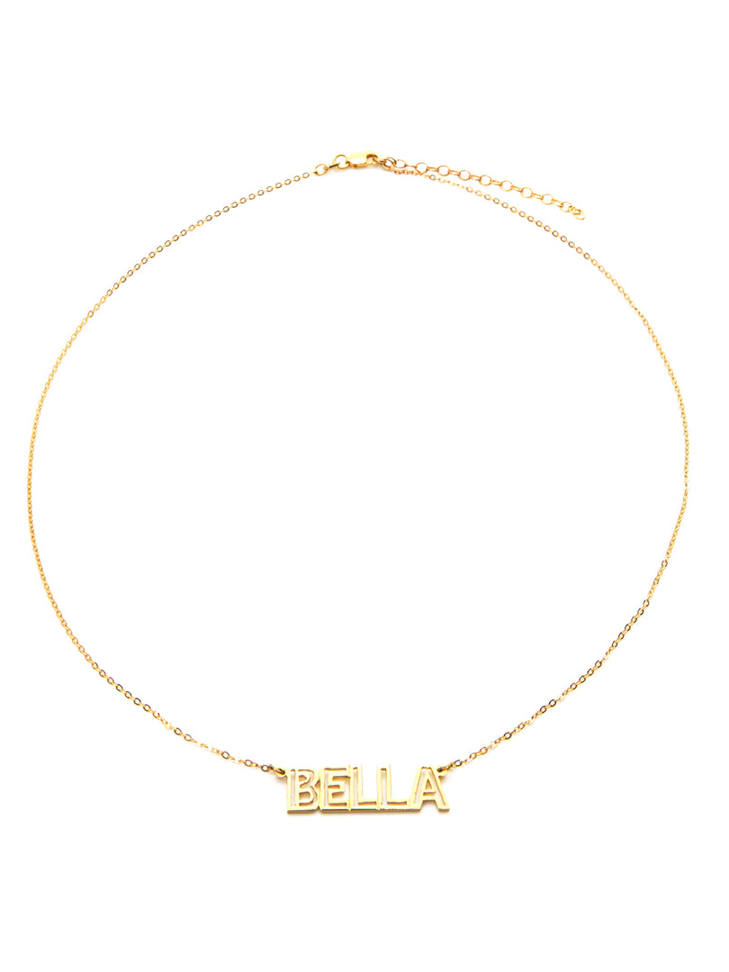 THE CUTOUT BLOCK NAMEPLATE NECKLACE