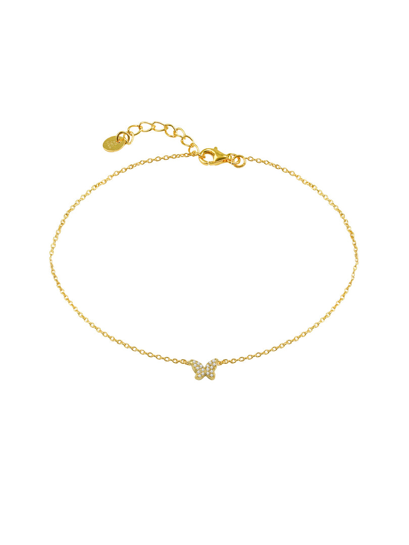 THE SINGLE BUTTERFLY PAVE' ANKLET