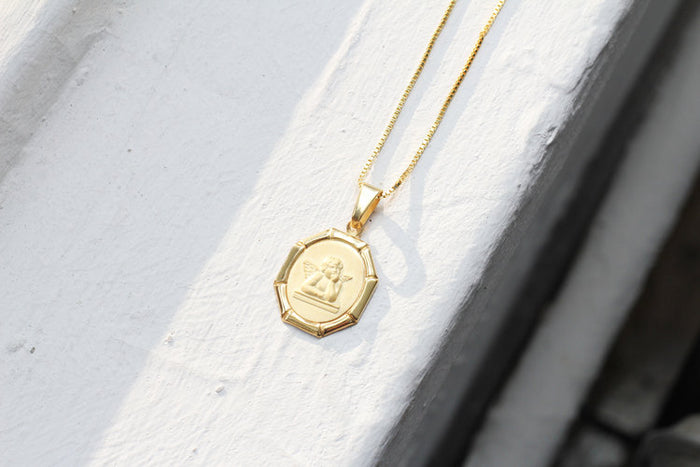THE CHERUB MEDAL NECKLACE