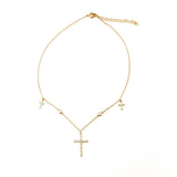 THE DAINTY CROSS CHOKER NECKLACE