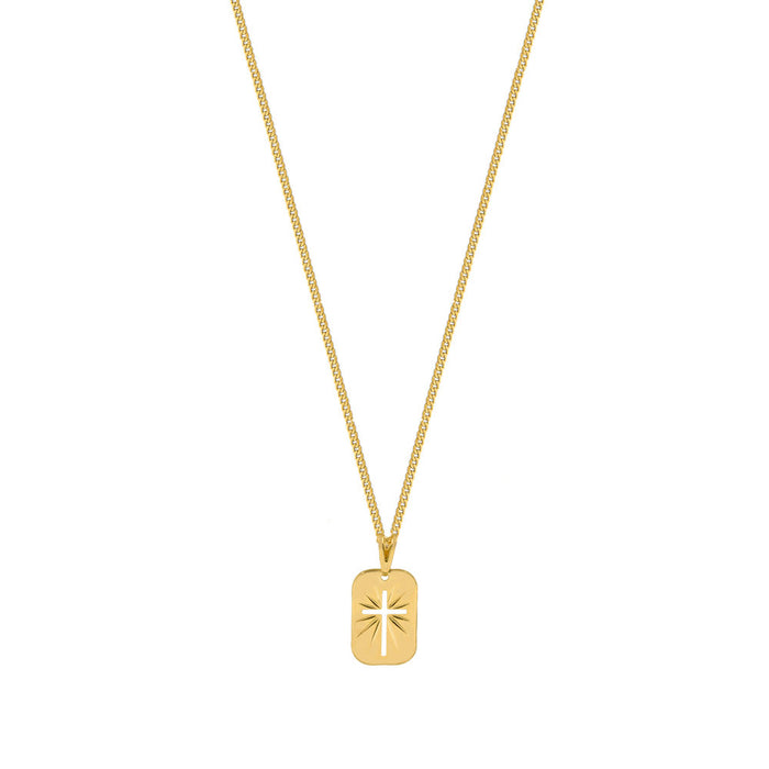 THE CUTOUT CROSS MEDAL NECKLACE