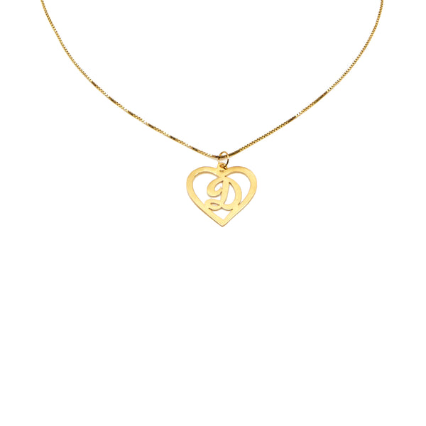 THE CUTOUT SCRIPT HEART PENDANT NECKLACE