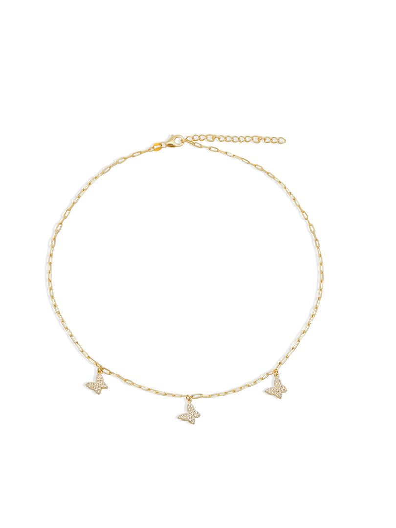 THE BUTTERFLY REDA LINK COLLAR NECKLACE