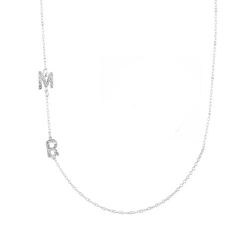 THE TWO INITIAL ESSENTIAL NECKLACE