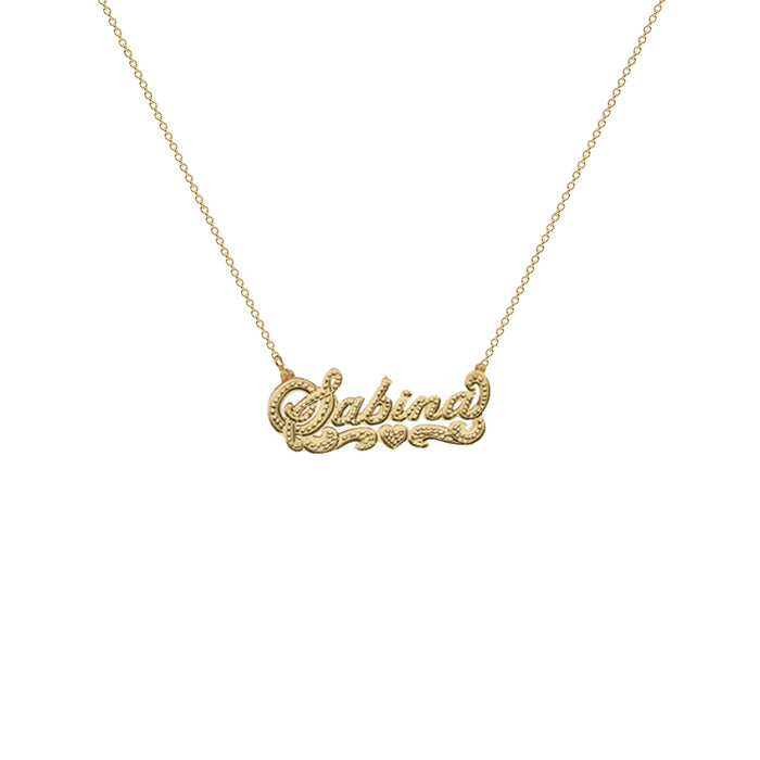 THE DOUBLE PLATE CLASSIC NAMEPLATE NECKLACE