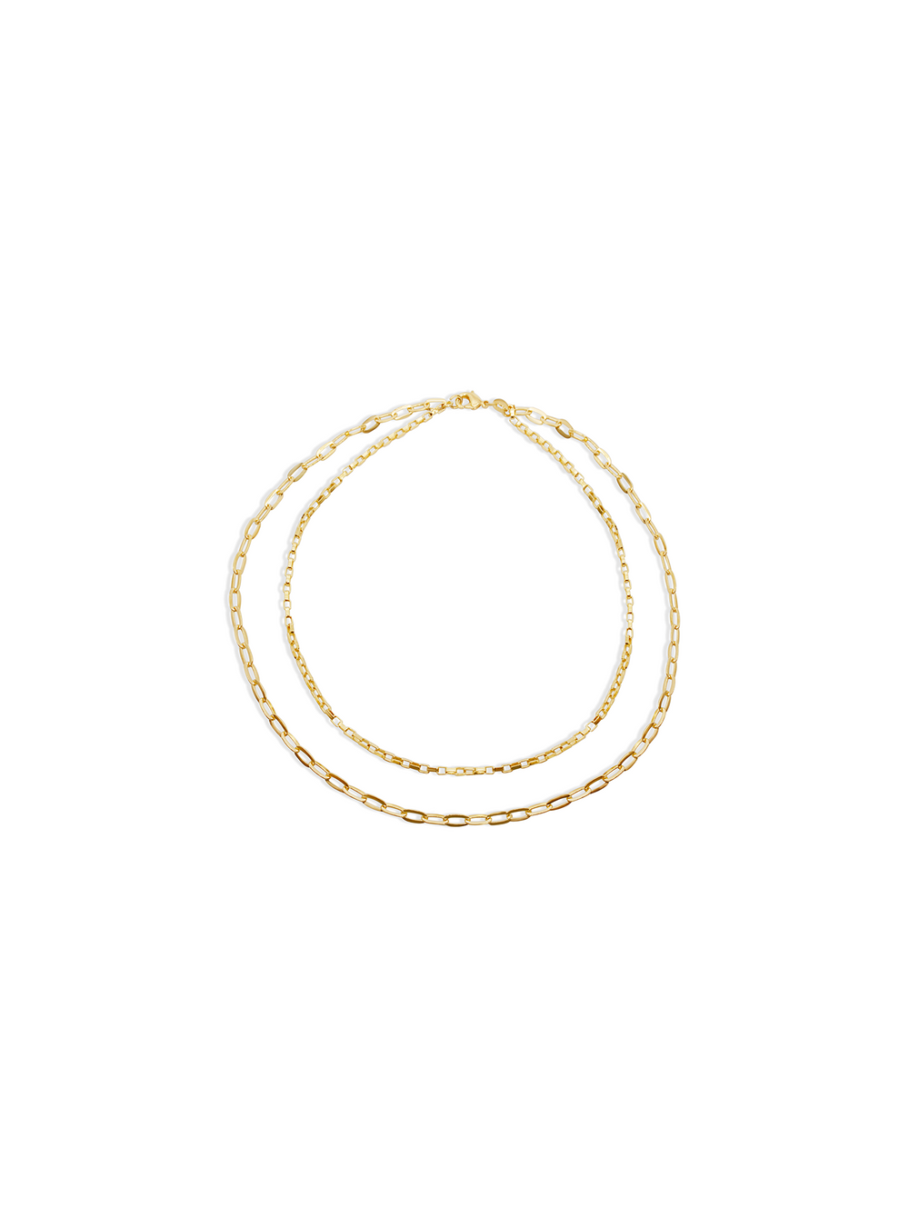 THE DOUBLE REDA LINK NECKLACE