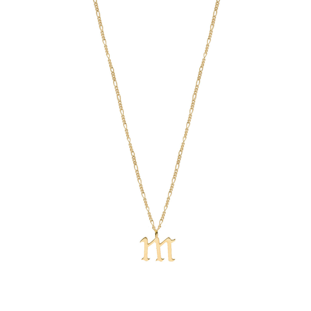 THE OLD ENGLISH FIGARO PENDANT NECKLACE (LOWERCASE)