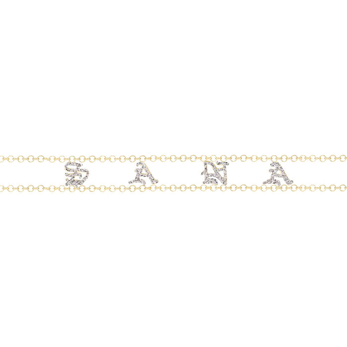 OLD ENGLISH CHOKER (GOLD/DIAMOND)