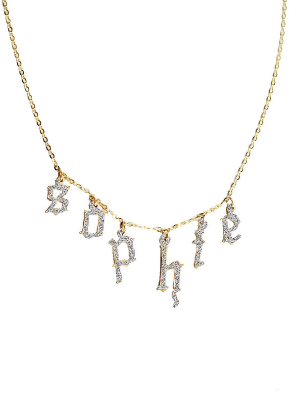 THE GOTHIC CHOKER NECKLACE DG X THE M (14KT GOLD/DIAMOND)