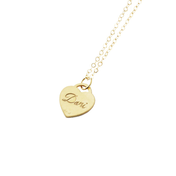 THE HAND ENGRAVED HEART PENDANT NECKLACE