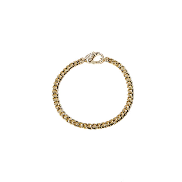 THE CUBAN LINK ICED OUT LOCK BRACELET