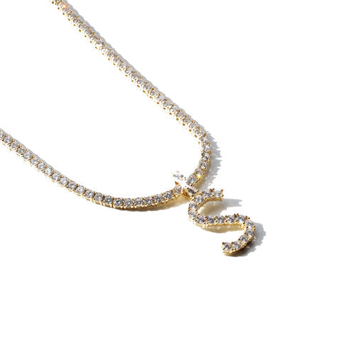 THE FULL ICED OUT LETTER NECKLACE