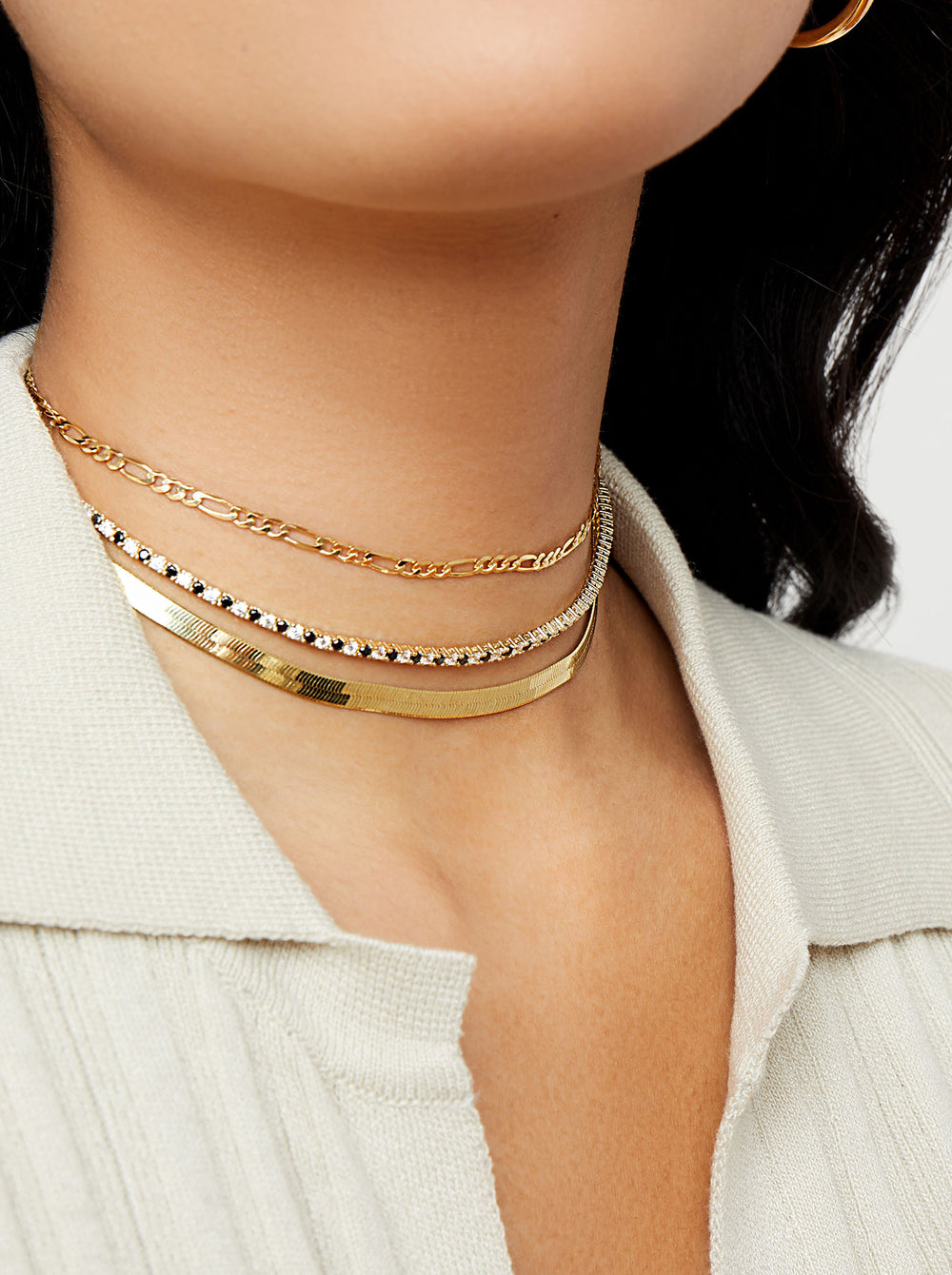 THE THIN VALDEZ CHOKER (BLACK + PAVE')