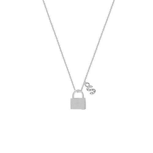 THE LOCK INITIAL PENDANT NECKLACE