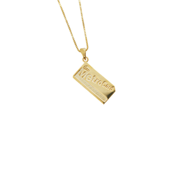 THE METRO CARD PENDANT NECKLACE