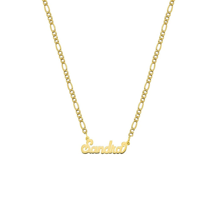 THE NAMEPLATE NECKLACE (FIGARO CHAIN)