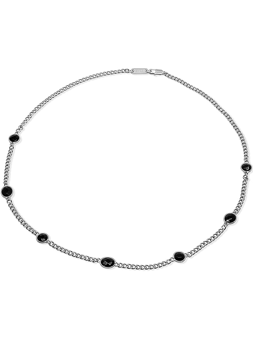 THE ELLEN SILVER ONYX NECKLACE (ALEXANDER ROTH X THE M JEWELERS)