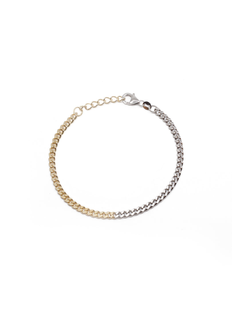 THE TWO TONE CURB BRACELET