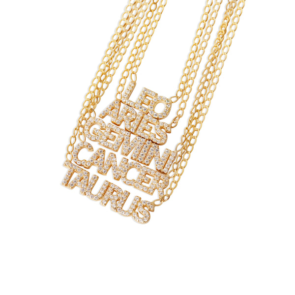 THE ICED OUT ZODIAC NECKLACE