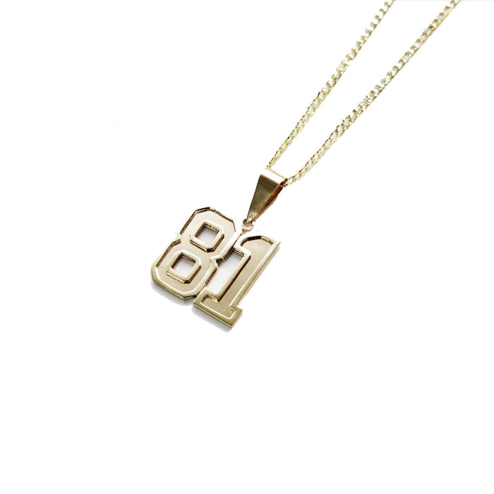 THE VARSITY NUMBER PENDANT NECKLACE
