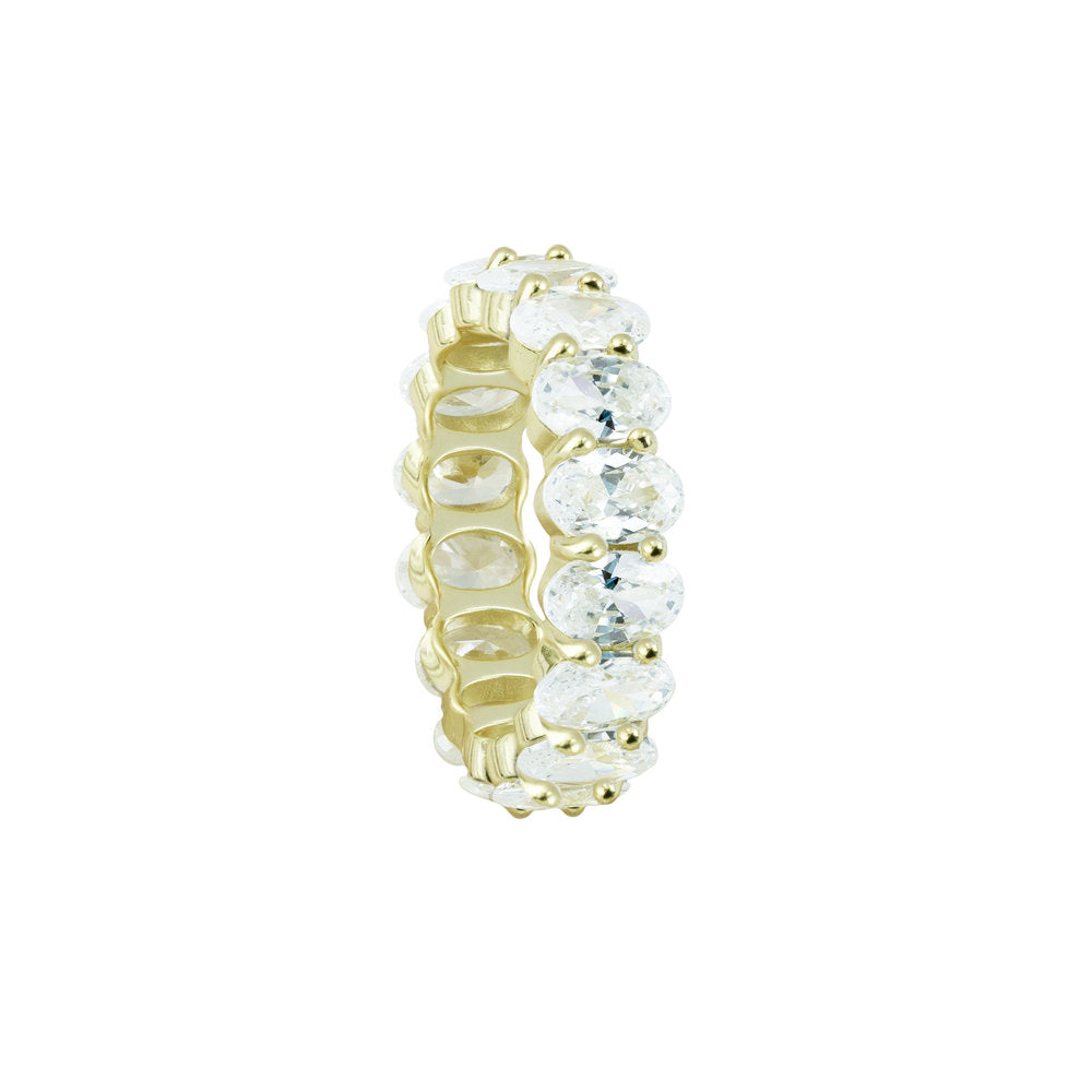 THE OVAL CUT ETERNITY BAND