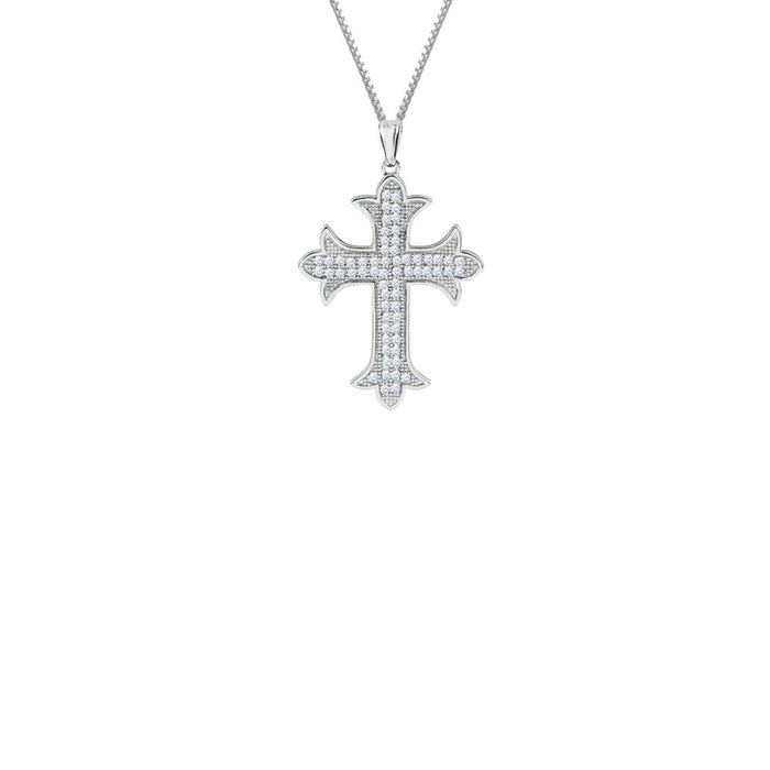 PAVE ORCHARD CROSS NECKLACE