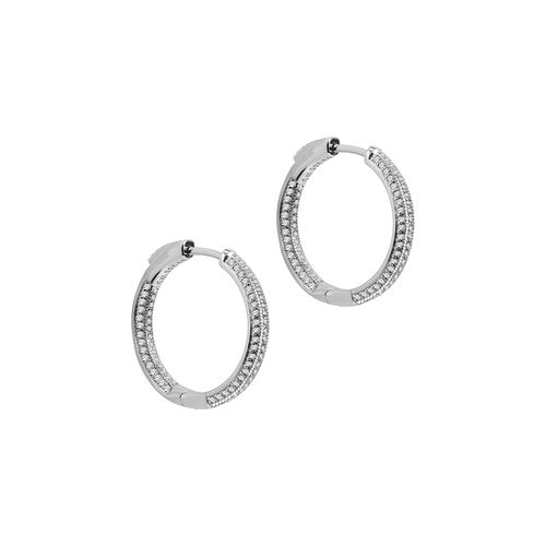 THE PAVE' RAVELLO HOOPS (SMALL)