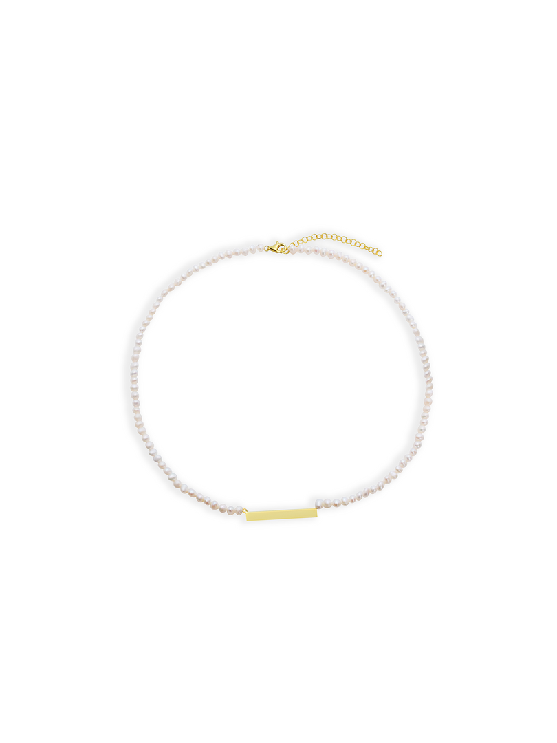 THE PEARL BAR NECKLACE